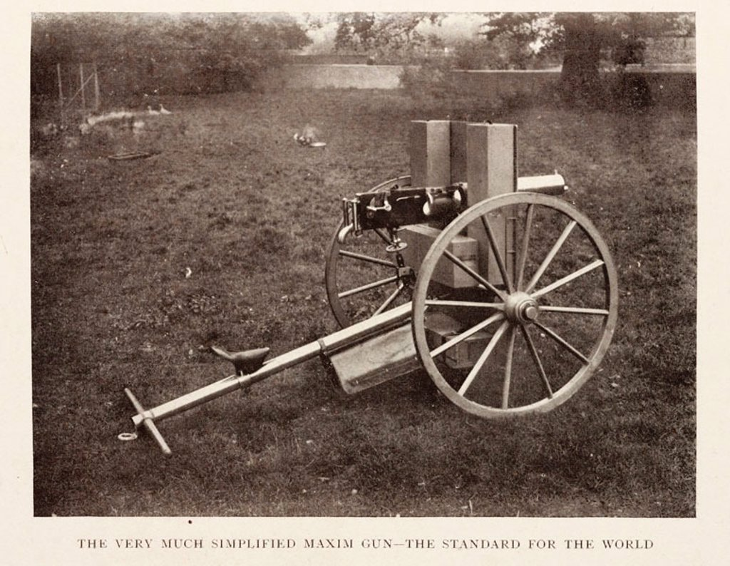 The Simplified Maxim gun. : Stock Photo