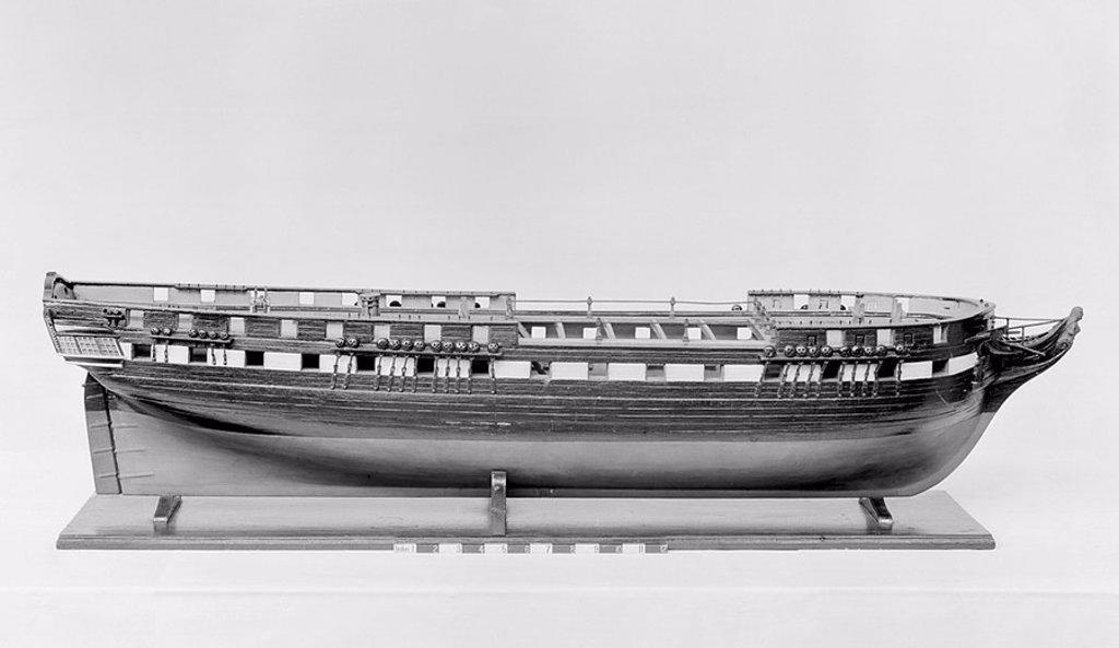 Stock Photo: 1895-45883 Model of a 50-gun frigate, 1813