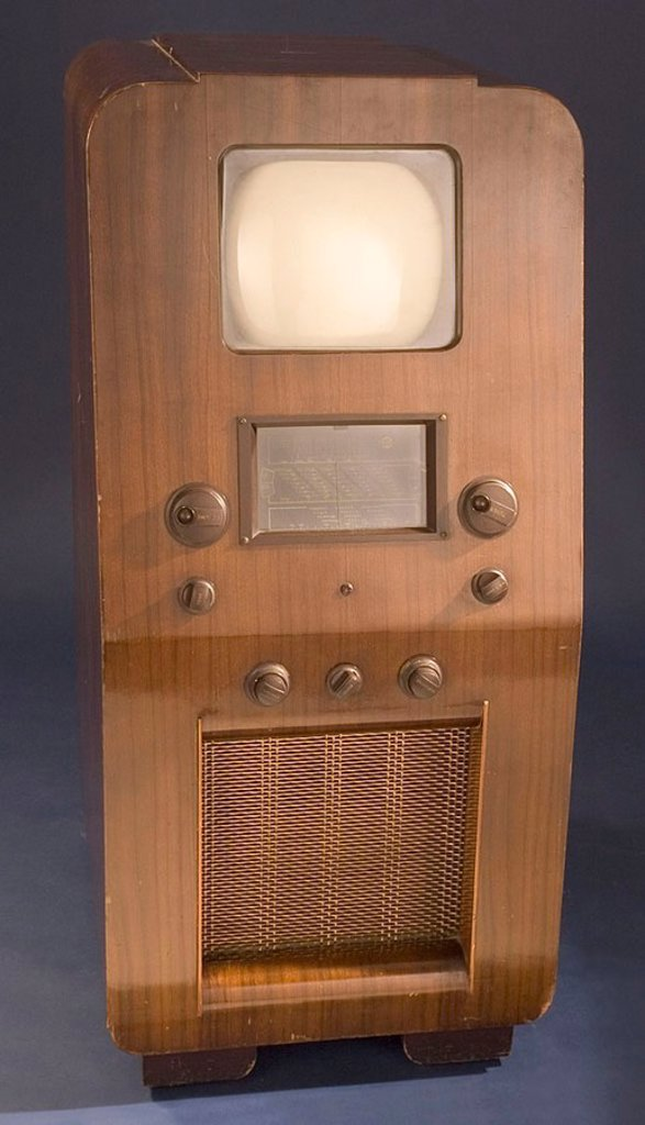 Marconiphone Model 709 television receiver, c 1938 : Stock Photo