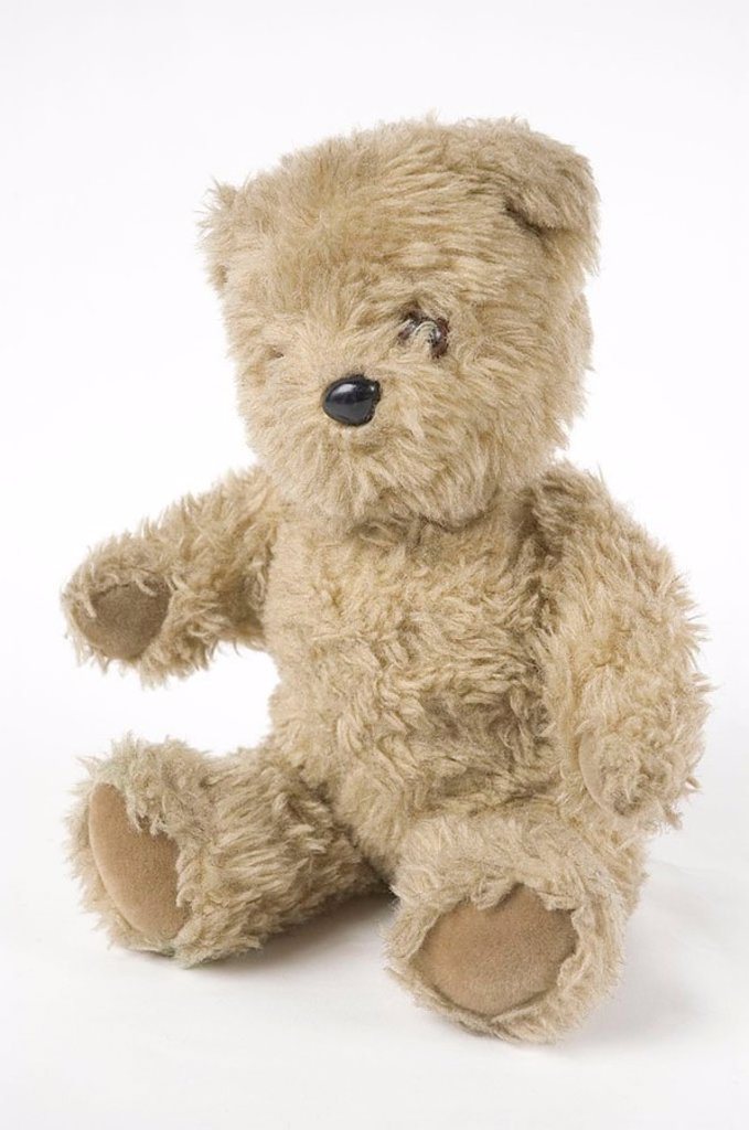 'Little Ted', toy from BBC TV's 'Play School', c 1970s : Stock Photo