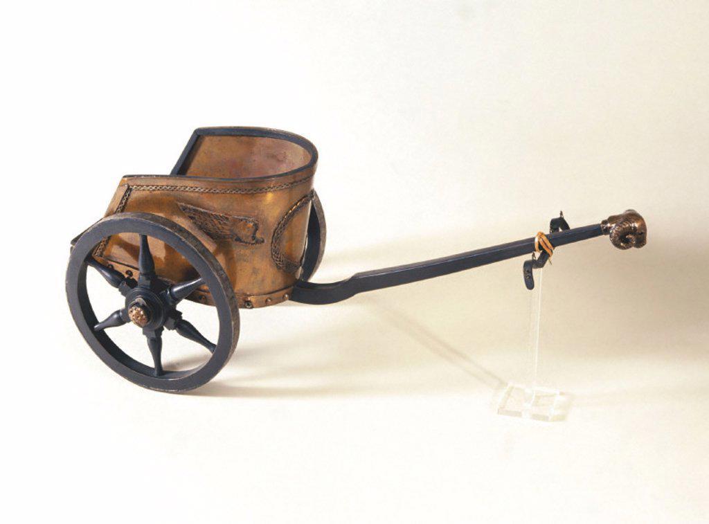Roman chariot, c 200 BC. : Stock Photo