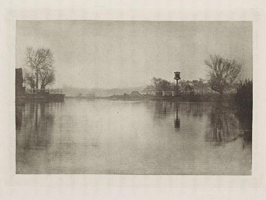 'A Waterside Inn', 1895 : Stock Photo