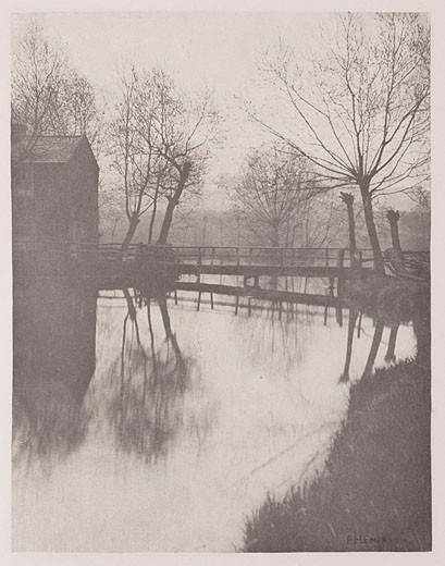 Footbridge near Chingford, 1888 : Stock Photo