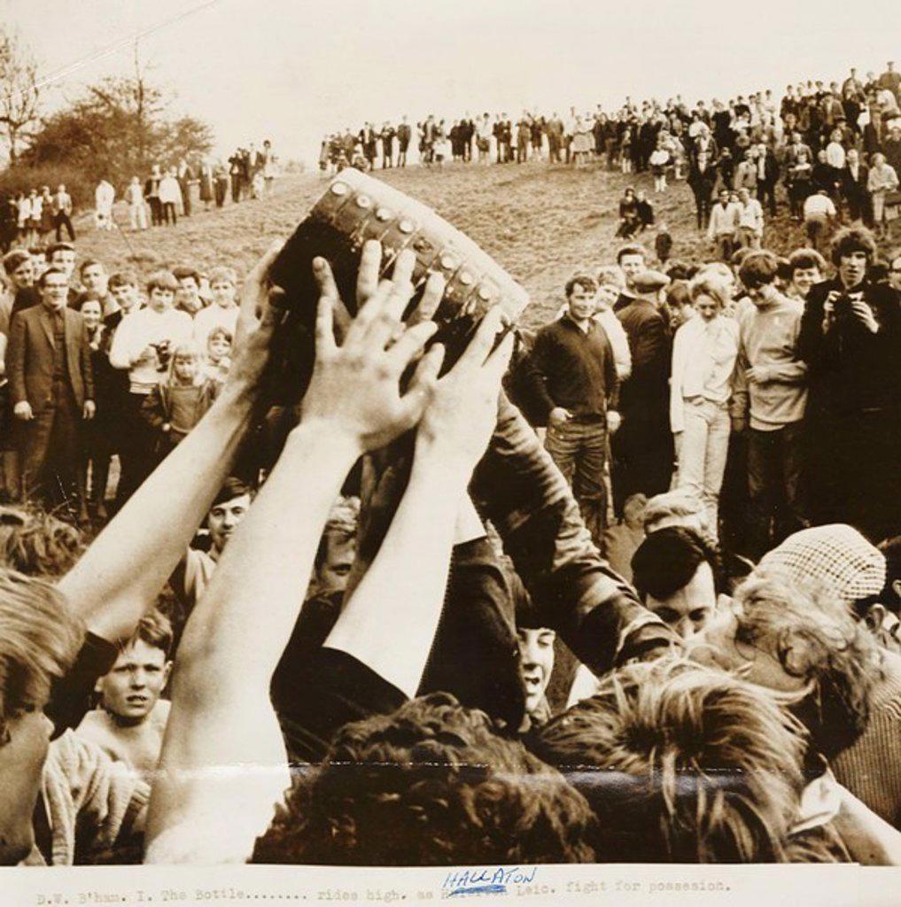 Stock Photo: 1895-46565 Bottle-kicking in Hallaton, 1968