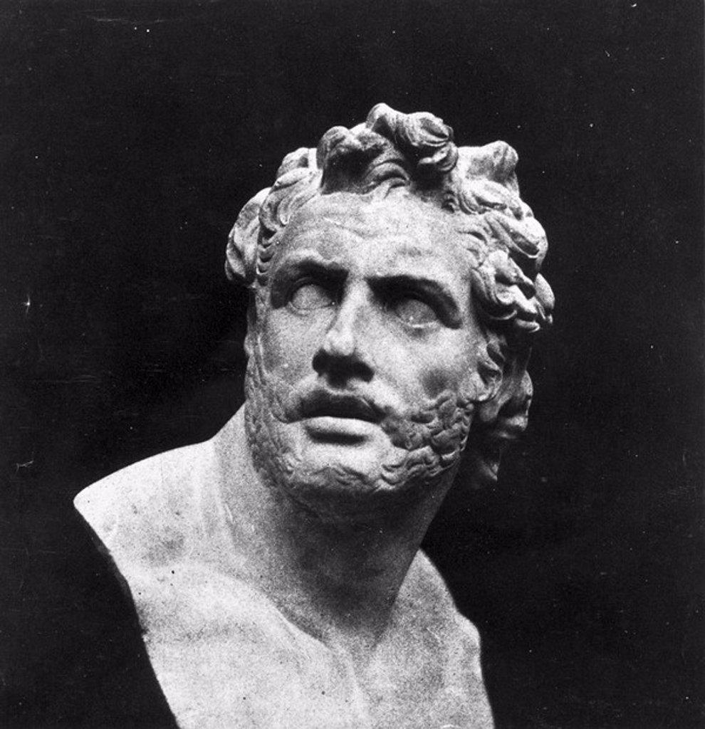 Stock Photo: 1895-46741 Bust of Patroclus, c 1841