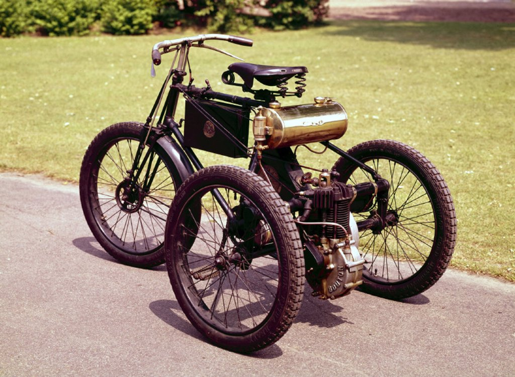Stock Photo: 1895-4700 De Dion Bouton motor tricycle, 1898.