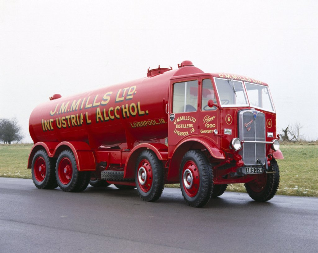 AEC Mammoth Major Mk 1 four-axle lorry, 1934. : Stock Photo