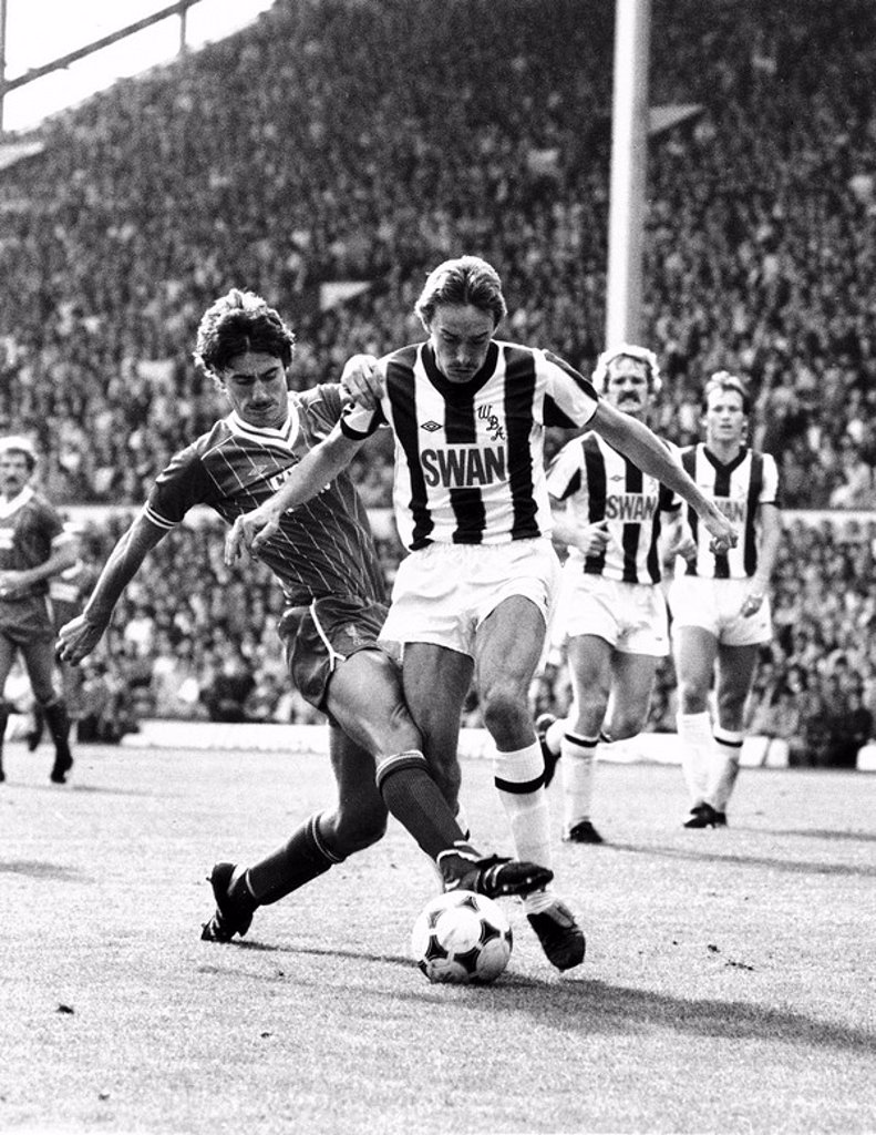 Stock Photo: 1895-47782 Liverpool v West Bromwich Albion, 28 August 1982