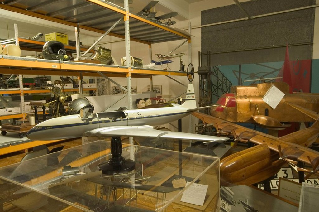 Stock Photo: 1895-47858 Comet I model aeroplane, Blythe House, Science Museum, London, 2007