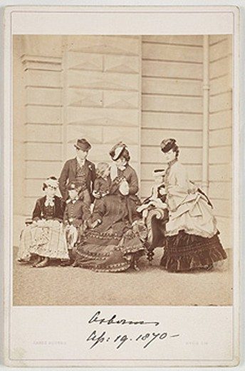 Stock Photo: 1895-48202 The Royal Family at Osborne, 19 April 1870.