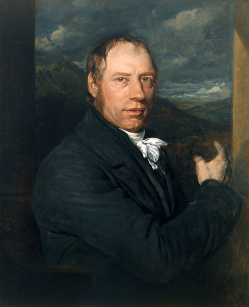 Richard Trevithick, Cornish engineer and  inventor, 1816. : Stock Photo