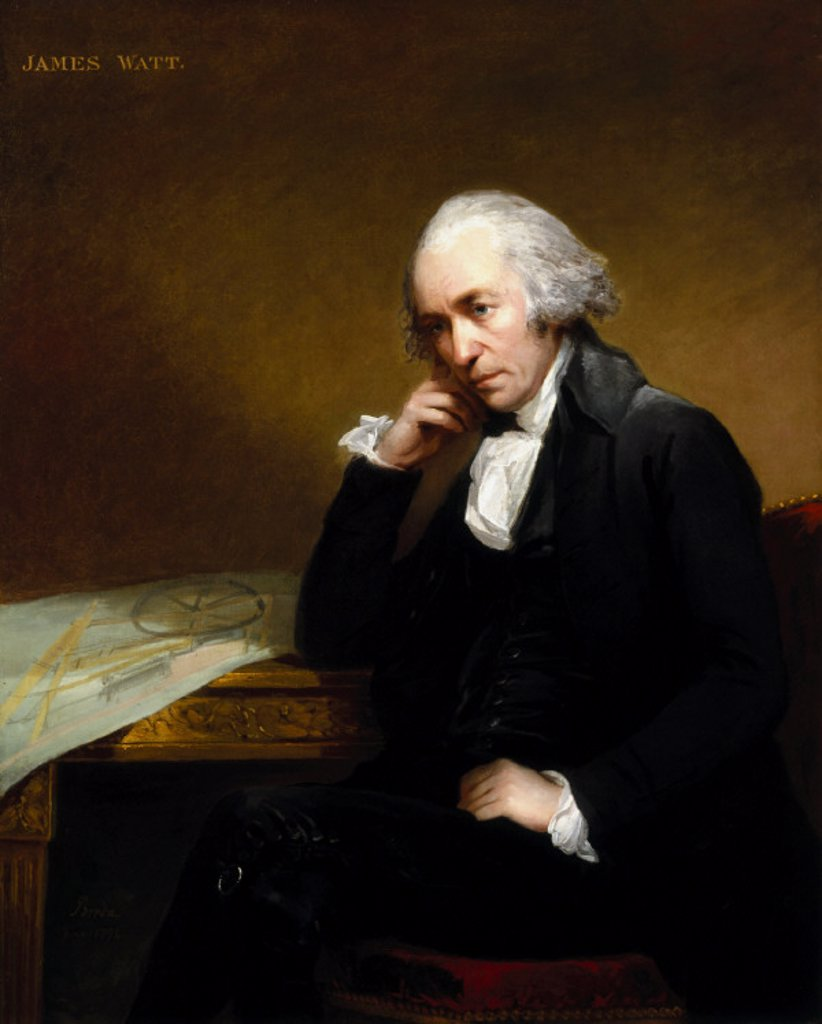 James Watt, Scottish engineer, 1792. : Stock Photo