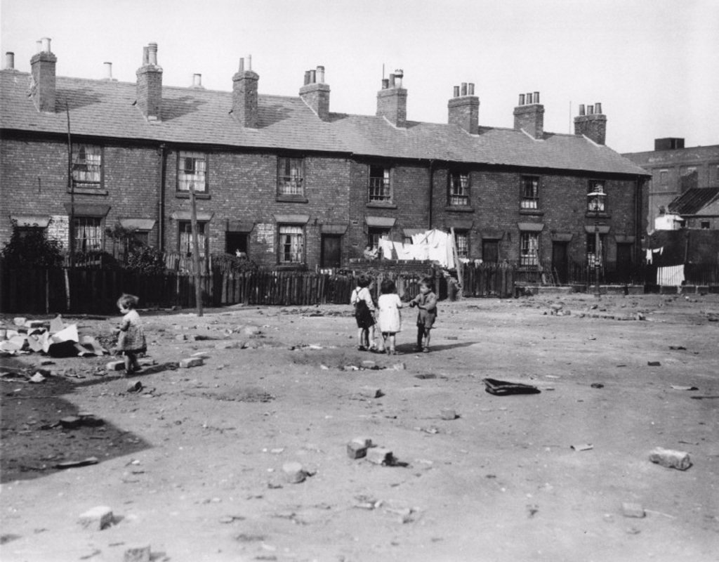 Stock Photo: 1895-5423 Slum houses in Derby, 18 October 1937.