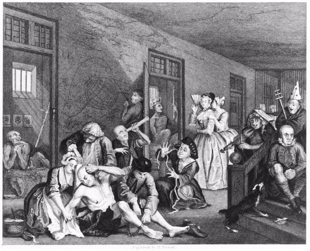´Scene in Bedlam´, 1735 : Stock Photo