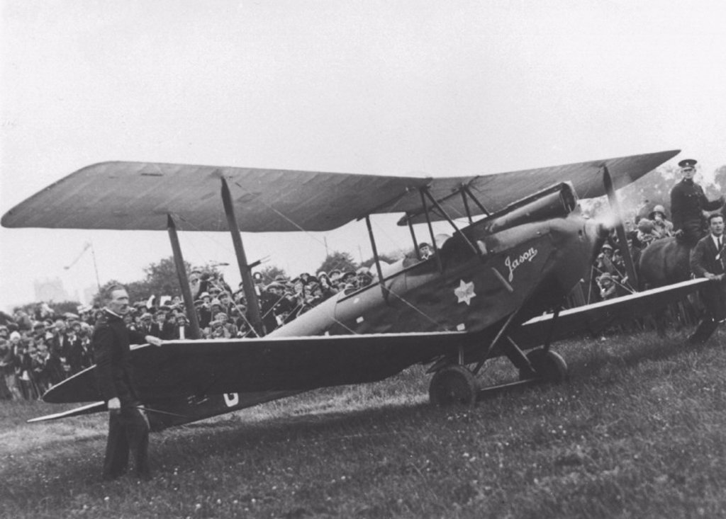 Amy Johnson´s single seater de Haviland Moth biplane, ´Jason´, 1930. : Stock Photo
