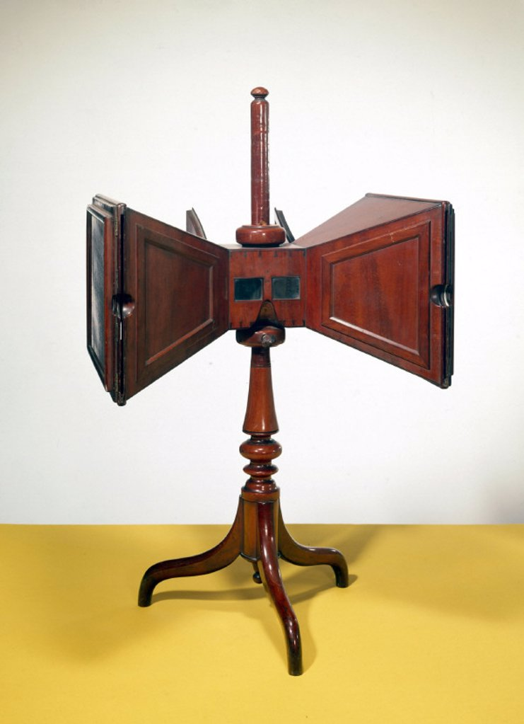 Wheatstone stereoscope, c 1850. : Stock Photo