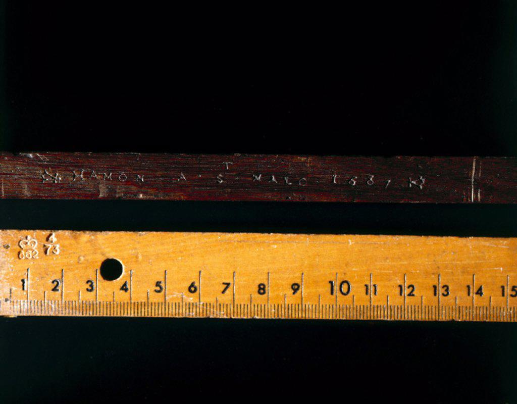 Cross-staff, 1687. : Stock Photo