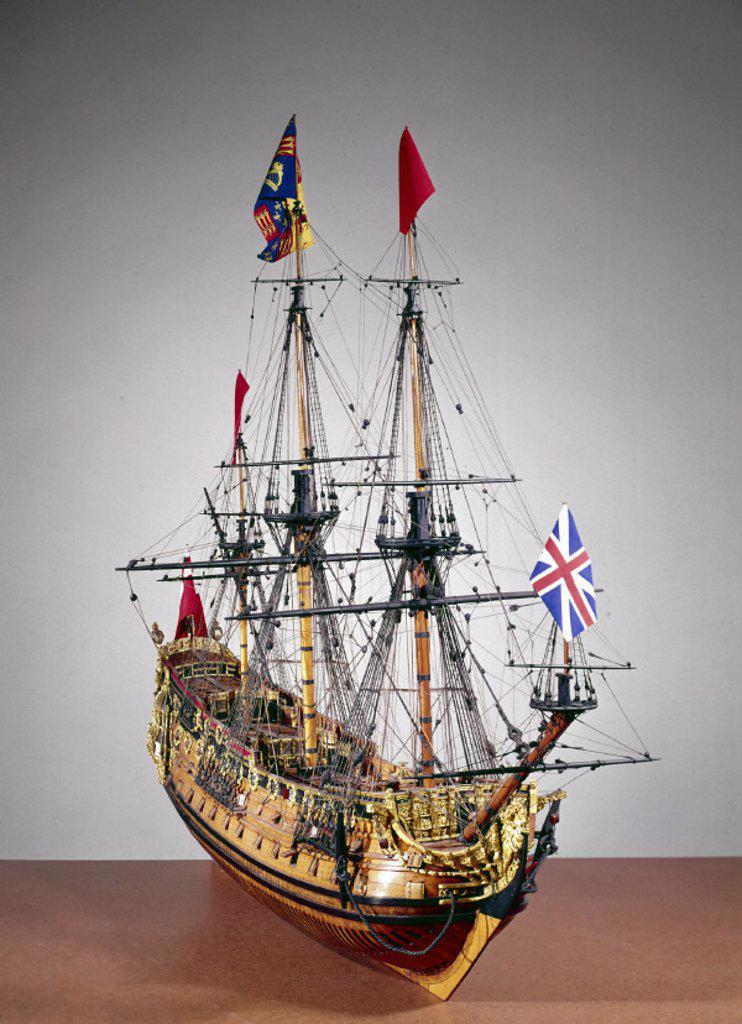 HMS ´Prince´, 1670. : Stock Photo