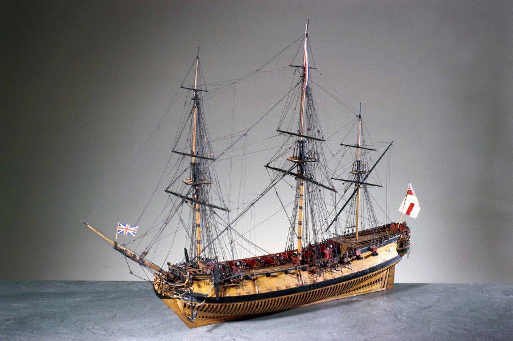 Stock Photo: 1895-6097 20-gun ship, c 1719.