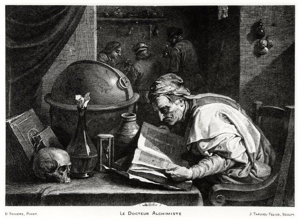 ´The Alchemist Doctor´, 1736-1791. : Stock Photo