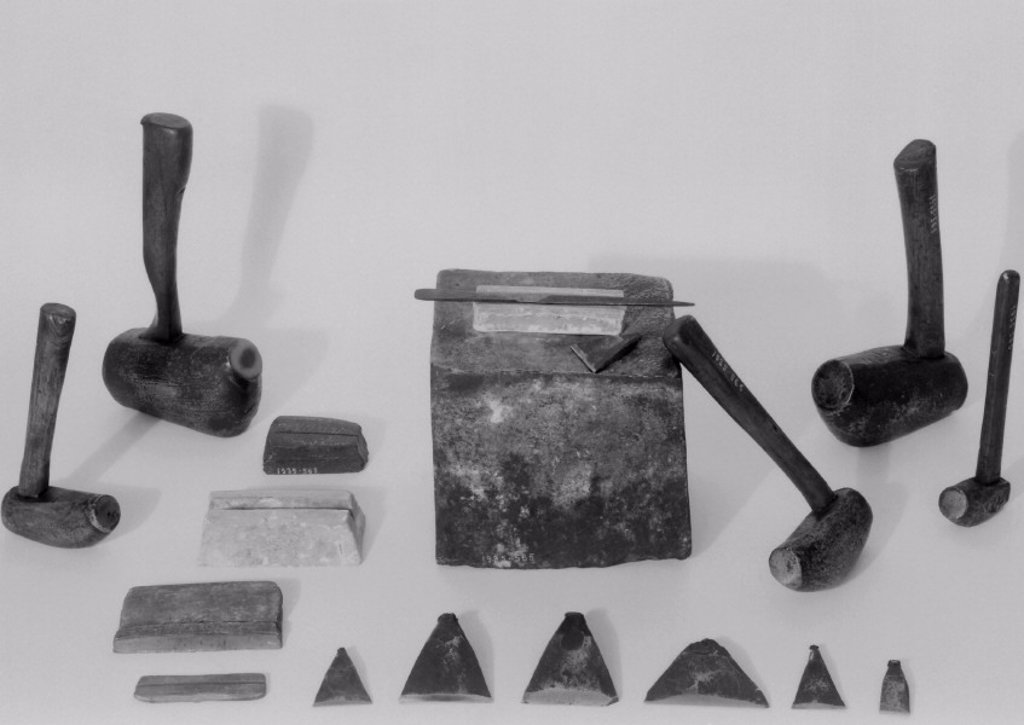 Stock Photo: 1895-6295 Collection of file-cutters tools, 1880-1920.
