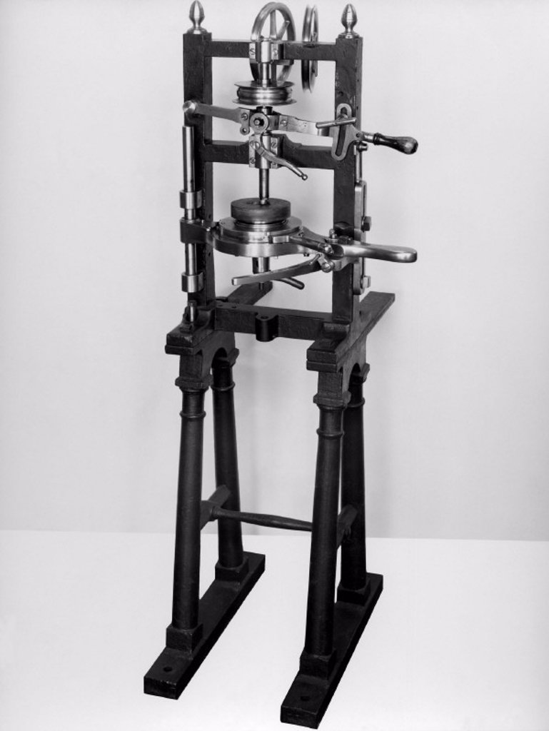 Brunel´s coaking machine, c 1804. : Stock Photo