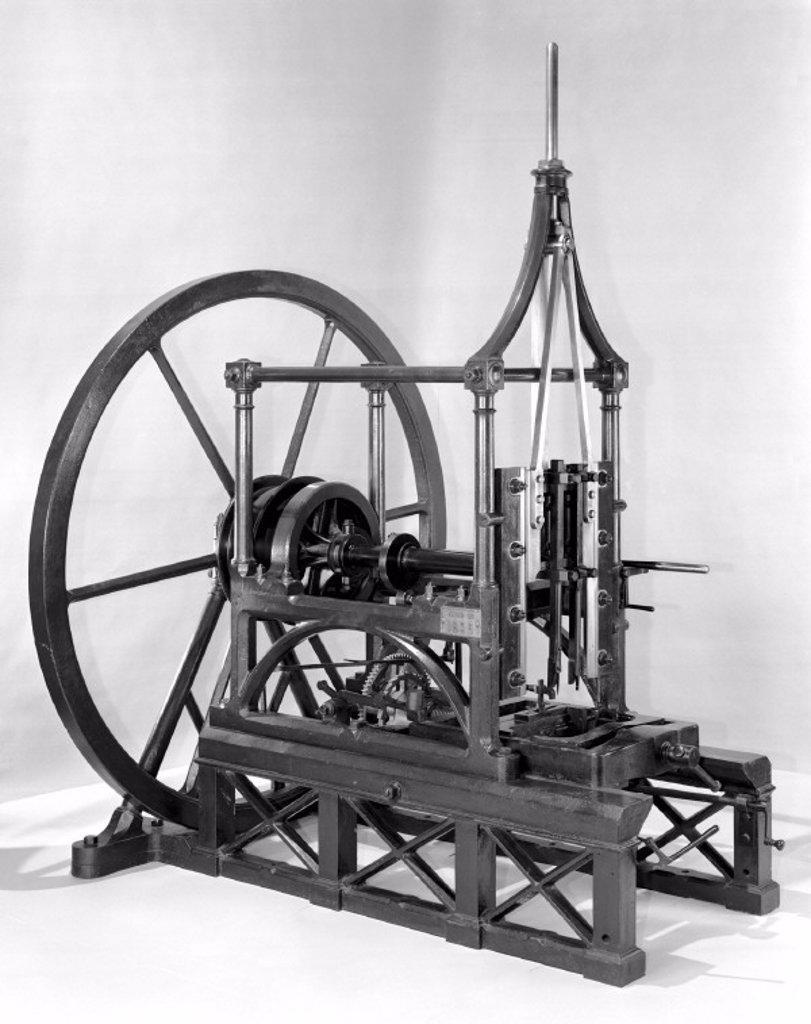 Mortising machine, Yard No 1896, c 1800. : Stock Photo