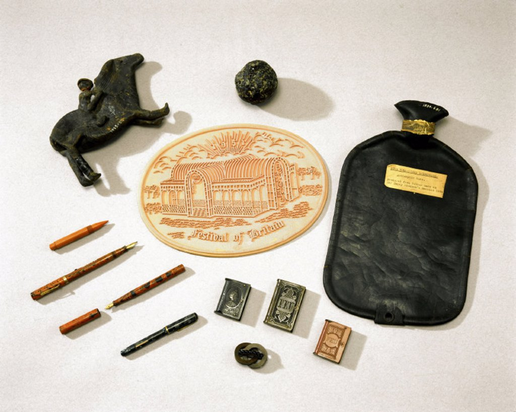 Stock Photo: 1895-6472 Items made of rubber, 1850-1960.
