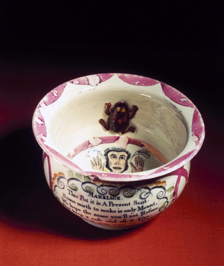 Chamber pot, 19th century. : Stock Photo