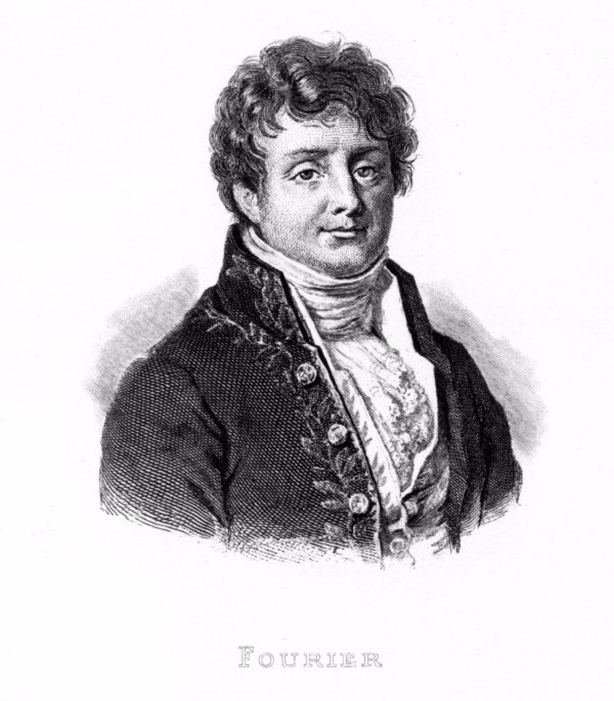 Baron Jean Baptiste Fourier, French mathematician, c 1810. : Stock Photo