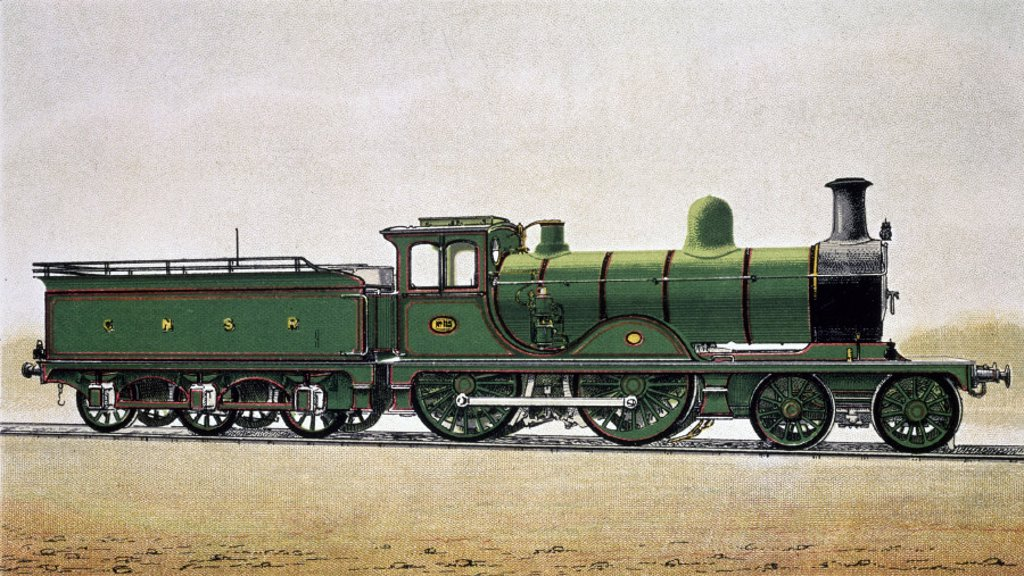 Stock Photo: 1895-8570 Great North of Scotland Railway express locomotive no 115, c 1900.