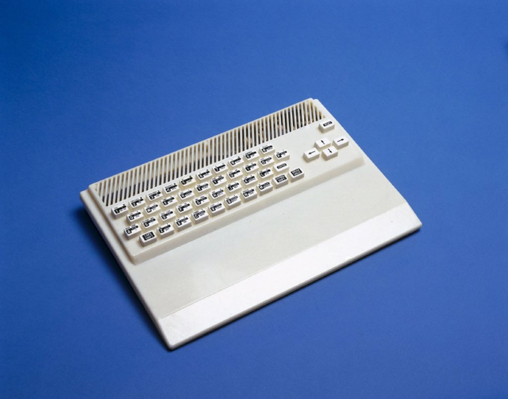 Soviet Sinclair Spectrum clone keyboard, c 1985. : Stock Photo