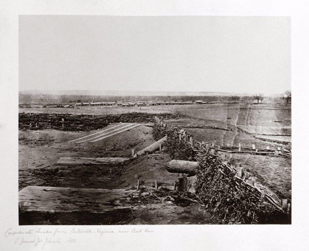 Stock Photo: 1895-8755 Confederate ´Quaker guns', Centreville, Virginia, USA, March 1862.