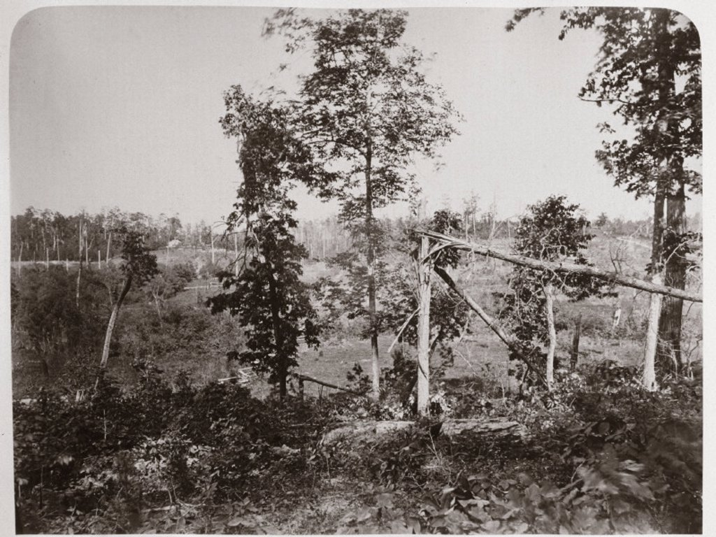 Battleground of Resaca, Georgia, USA, 1866. : Stock Photo