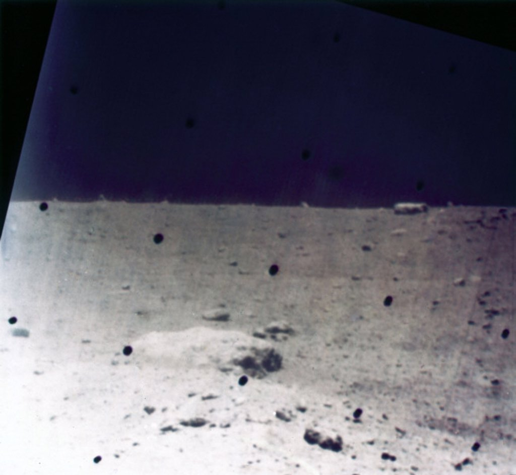 The surface of the Moon, 1967. : Stock Photo