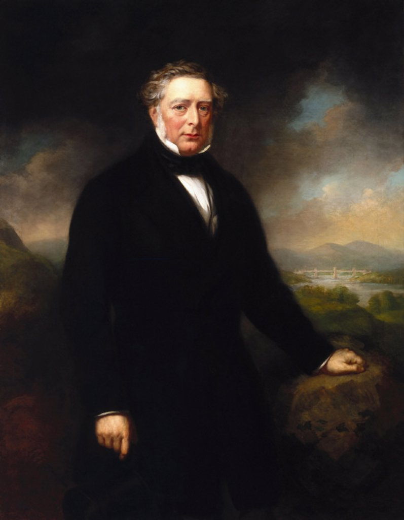 Stock Photo: 1895-8865 Robert Stephenson, English mechanical and civil engineer, c 1850s.