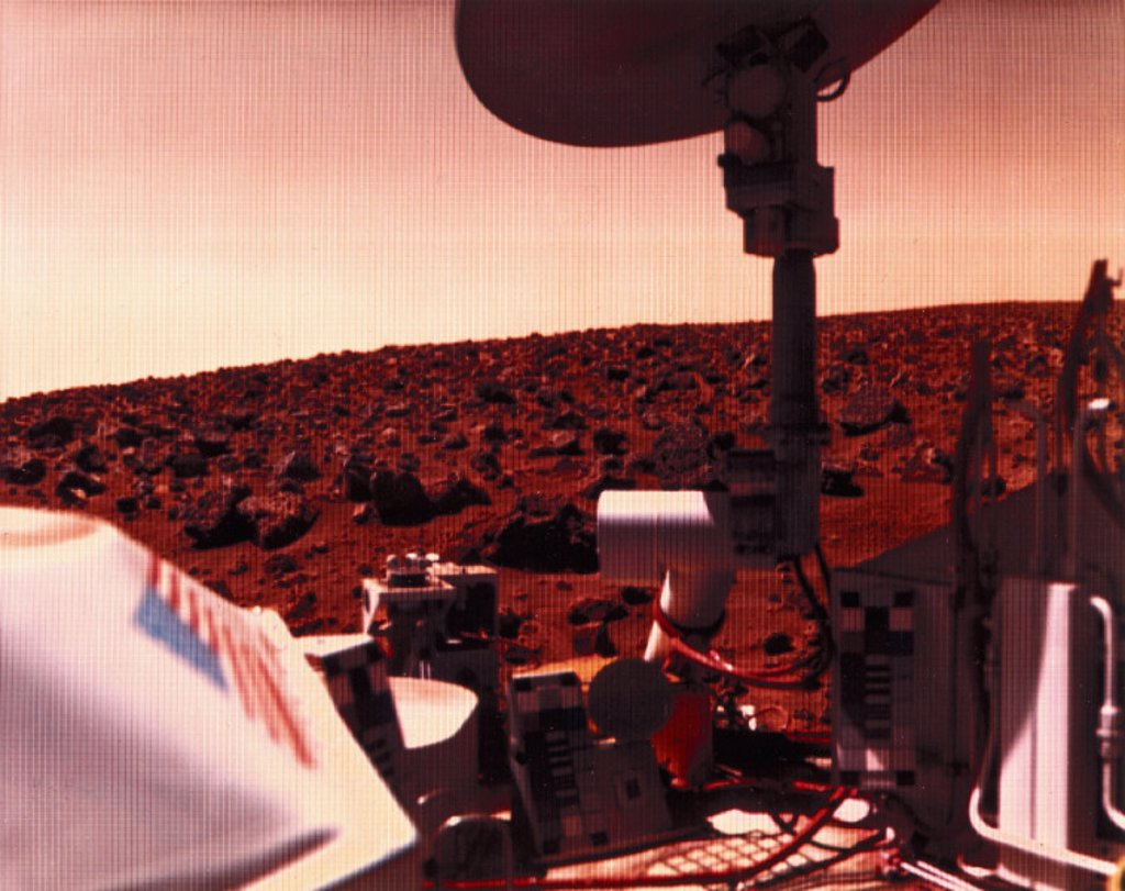 Stock Photo: 1895-9137 Viking 2 on Mars, 1976.