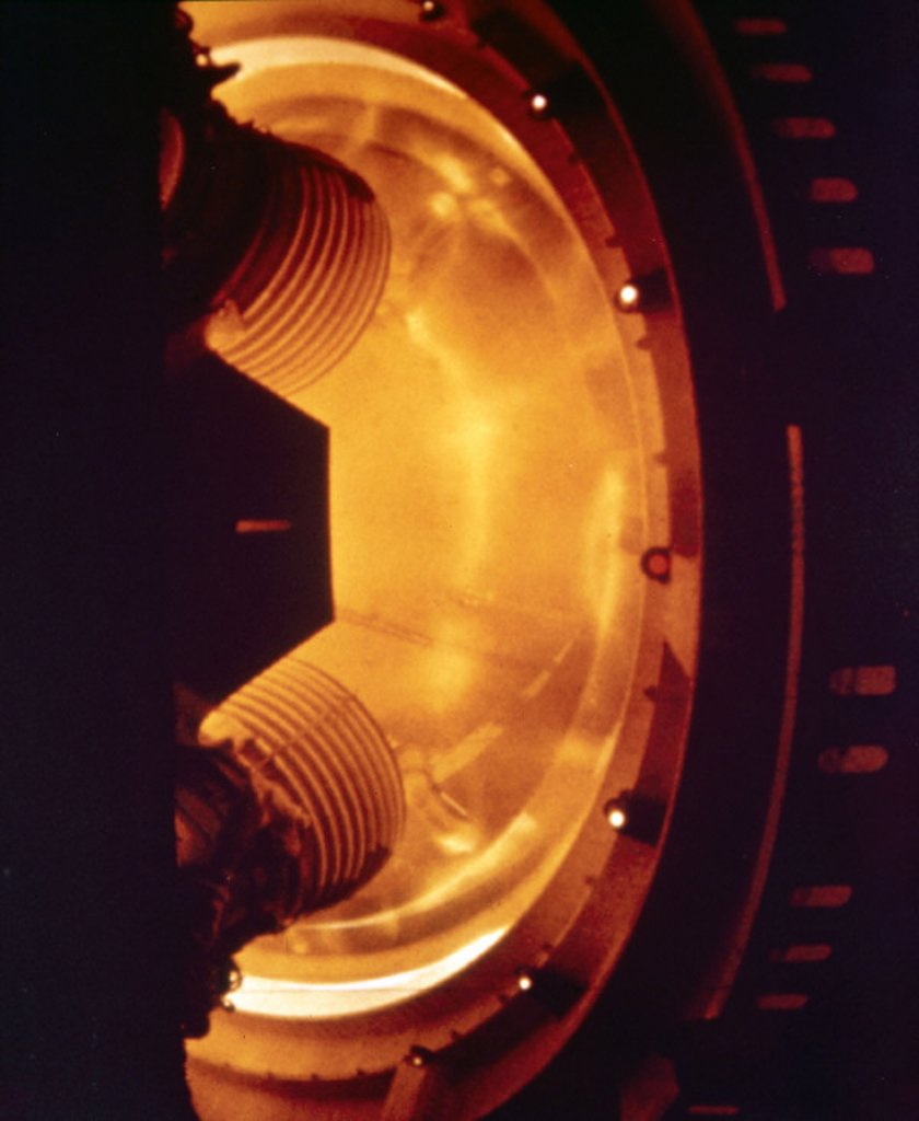Stock Photo: 1895-9329 Part of a Saturn V rocket stage, 1969.