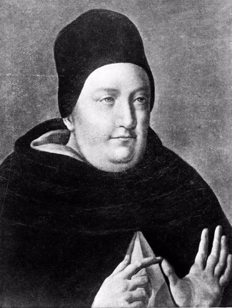 Saint Thomas Aquinas, mid 13th century. : Stock Photo