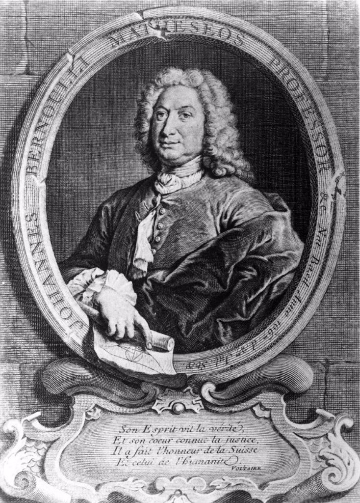 Jean Bernoulli, Swiss mathematician, 17th century. : Stock Photo