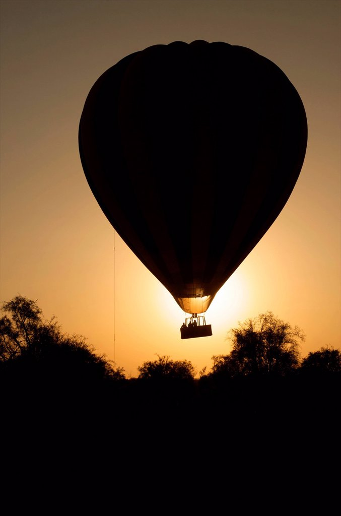Morning balloon flight over Amboseli, Kenya : Stock Photo