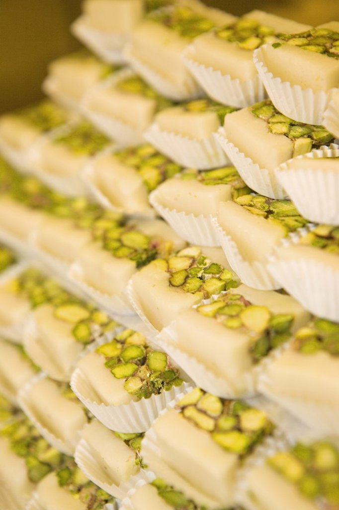 Stack of Arab Pistachio Sweets  Dubai, United Arab Emirates : Stock Photo