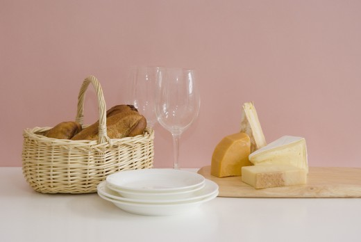 Stock Photo: 1897R-10948 Bread and cheese