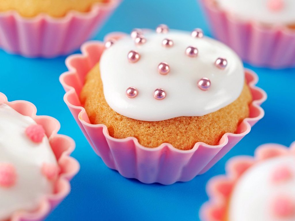 Stock Photo: 1898-13613 Cupcakes Fairy Cakes