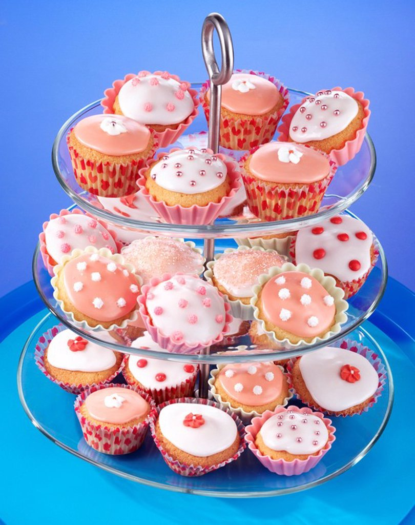 Cake Stand With Cupcakes Or Fairy Cakes : Stock Photo