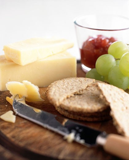 Cheese and Biscuits : Stock Photo