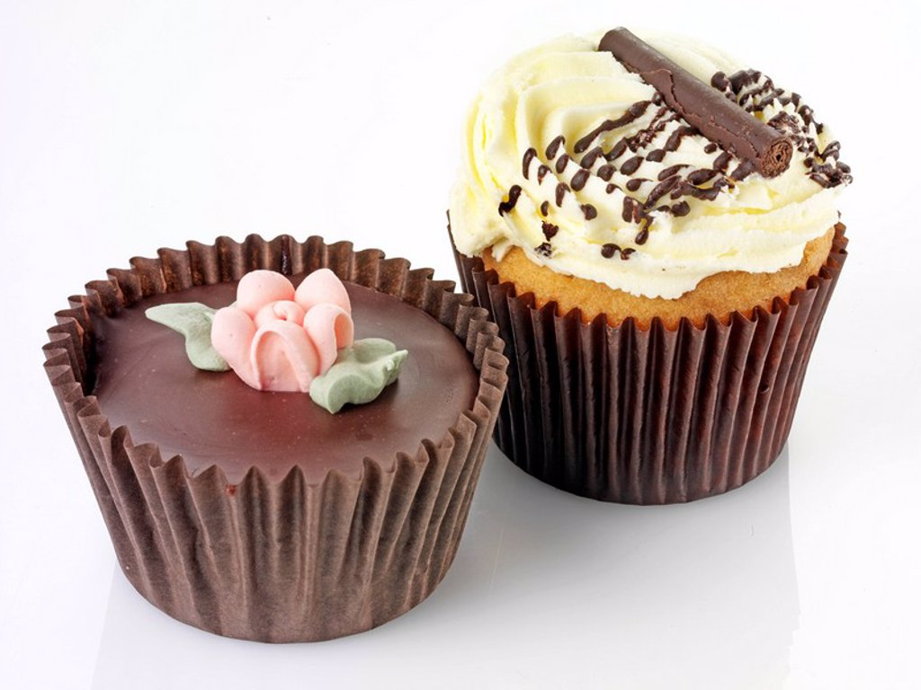 Stock Photo: 1898-14021 Two Cupcakes