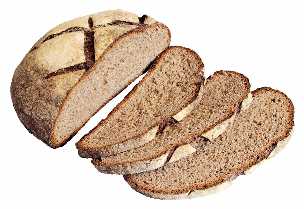 French Poilane Bread,Cut Out : Stock Photo