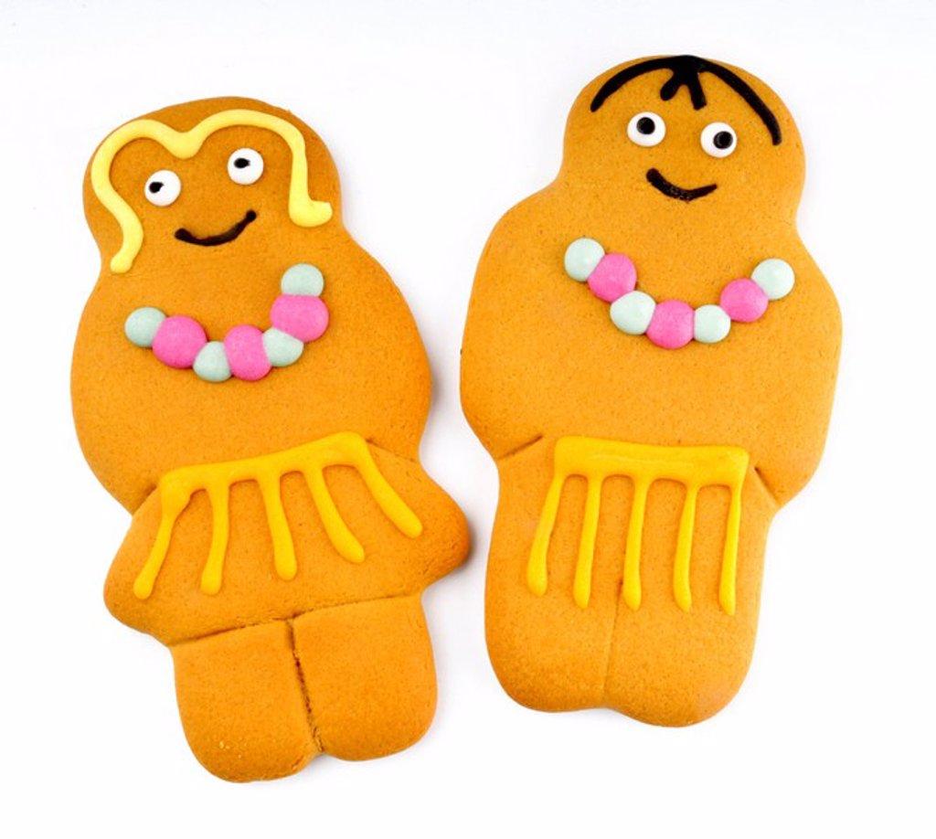 Stock Photo: 1898-14535 Hawaiian Gingerbread Couple