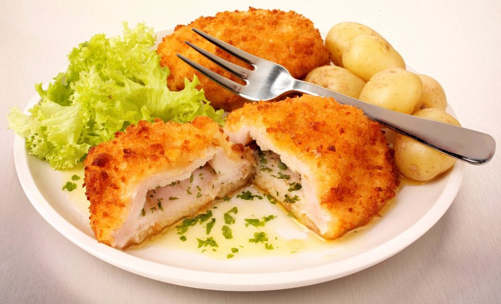 Garlic Chicken Kiev : Stock Photo